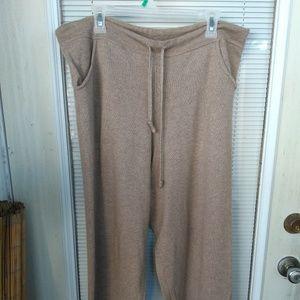 Saks Fifth Avenue 100% cashmere pants drawstring